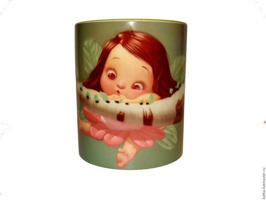"""Кружки и чашки ручной работы. Ярмарка Мастеров - ручная работа. Купить Кружка""""Феечка на ветке"""". Handmade. Зеленый, подарок, для детей"""