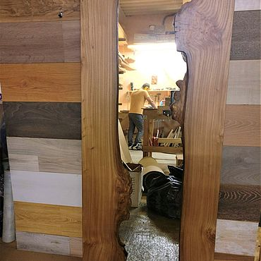 Для дома и интерьера ручной работы. Ярмарка Мастеров - ручная работа Зеркало из слэба. Handmade.