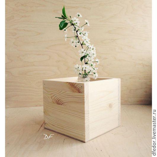Кашпо ручной работы. Ярмарка Мастеров - ручная работа. Купить Деревянное кашпо для цветов. Handmade. Кашпо, для цветов, ваза для цветов