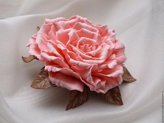 Броши ручной работы. Ярмарка Мастеров - ручная работа. Купить Брошь, брошка, брошь цветок. Handmade. Кремовый, цветок, подарок