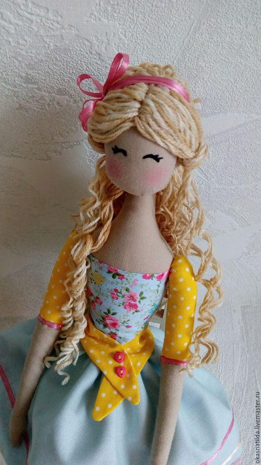 Коллекционные куклы ручной работы. Ярмарка Мастеров - ручная работа. Купить Тильда Анночка. Handmade. Голубой, интерьерное украшение