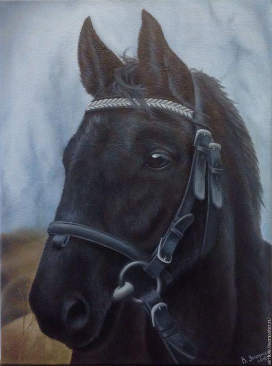 Животные ручной работы. Ярмарка Мастеров - ручная работа. Купить Лошадь. Handmade. Серый, лошадь, грива, Глаза, синий, земля