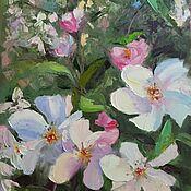 Картины и панно handmade. Livemaster - original item Picture of apple trees bouquet Picture of apple trees flowers Picture of white and pink flowers. Handmade.