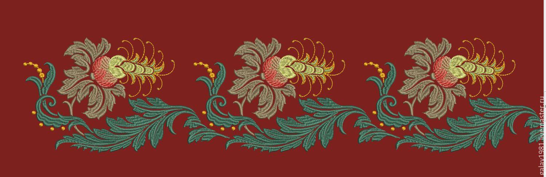 Дизайн и узоры для машинной вышивки