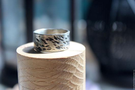 Кольца ручной работы. Ярмарка Мастеров - ручная работа. Купить Широкое кольцо из нейзильбера. Handmade. Серебряный, текстура