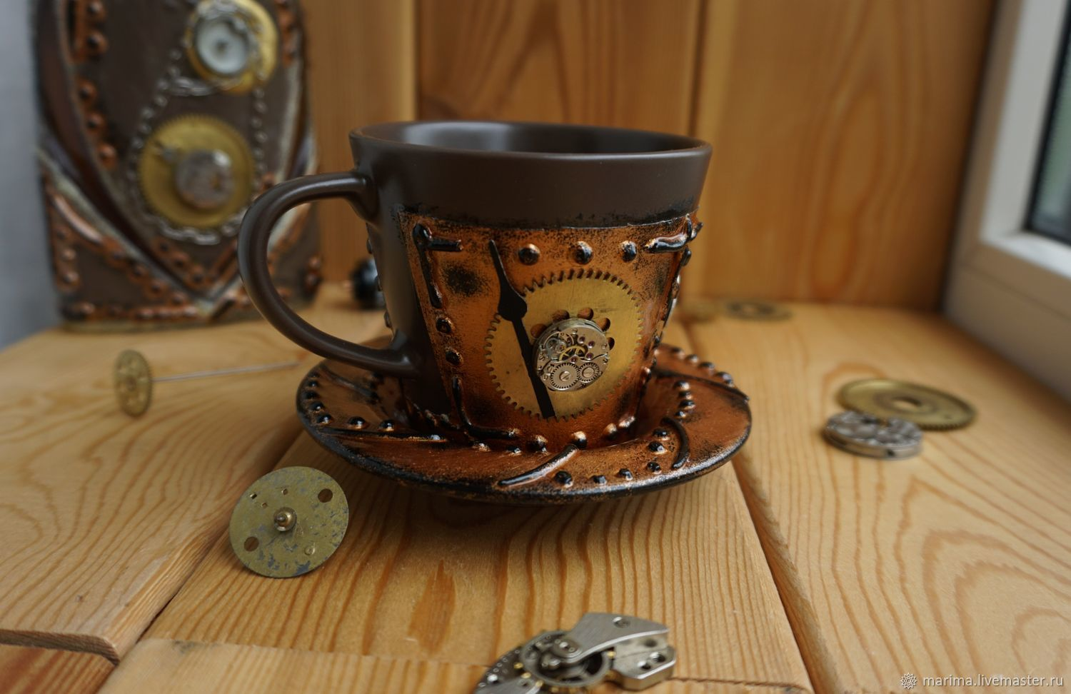Gifts for Men handmade. Livemaster - handmade. Buy Mug in the style of steampunk (steampunk)2.Steampunk