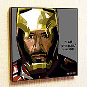 Картины и панно handmade. Livemaster - original item Painting Pop Art Iron man Marvel Ironman. Handmade.