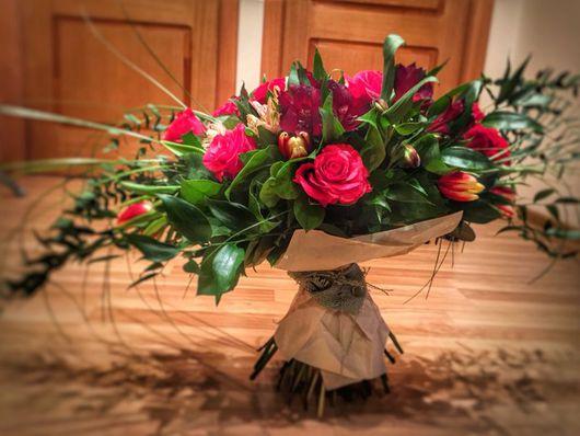 Букеты ручной работы. Ярмарка Мастеров - ручная работа. Купить Букет-лодочка. Handmade. Букет цветов, цветы, АЛЬСТРОМЕРИЯ