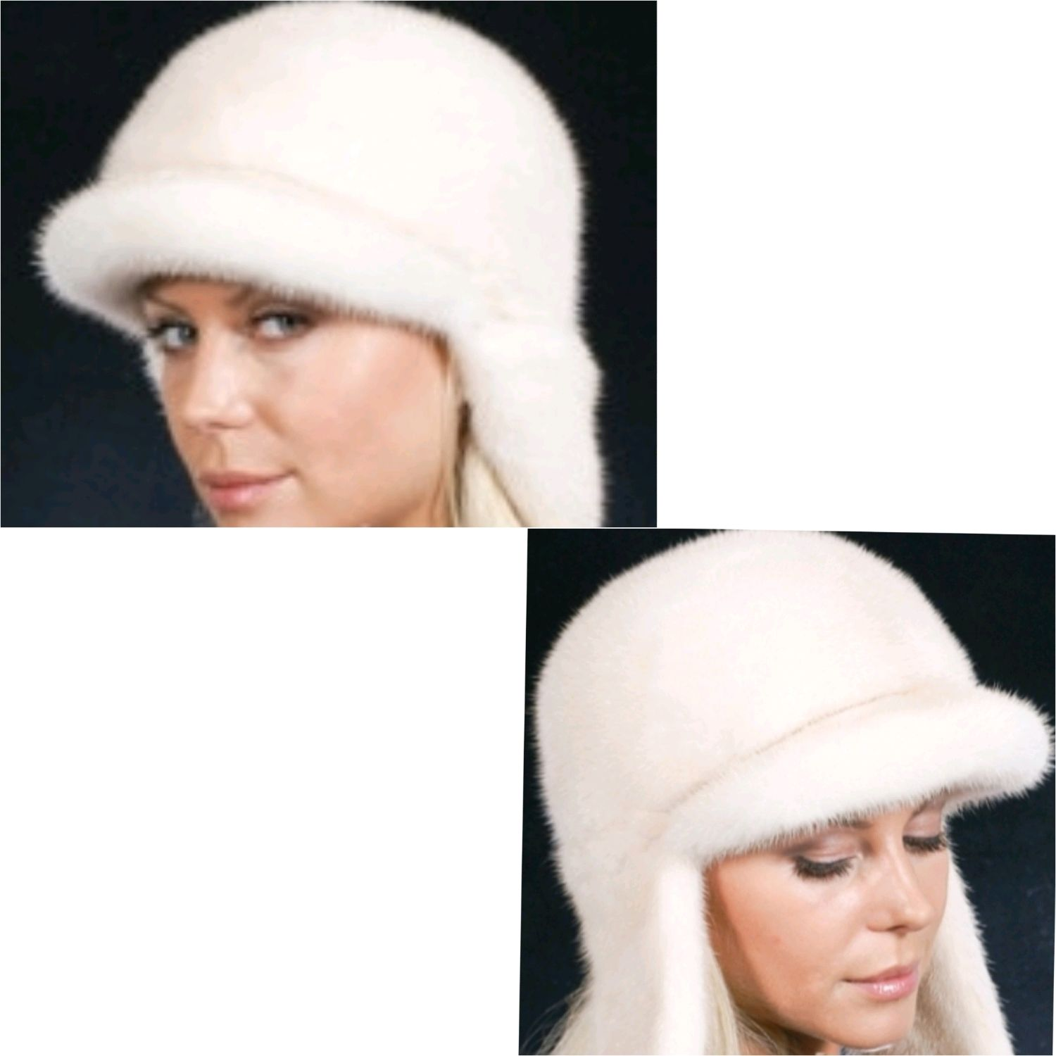 Hat earflaps from mink budenovka, Caps, Moscow,  Фото №1