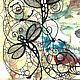 """Картины цветов ручной работы. """"Стрекозы"""". Любовь Шатилова. Интернет-магазин Ярмарка Мастеров. Картина в подарок, графика, цветы, графика"""