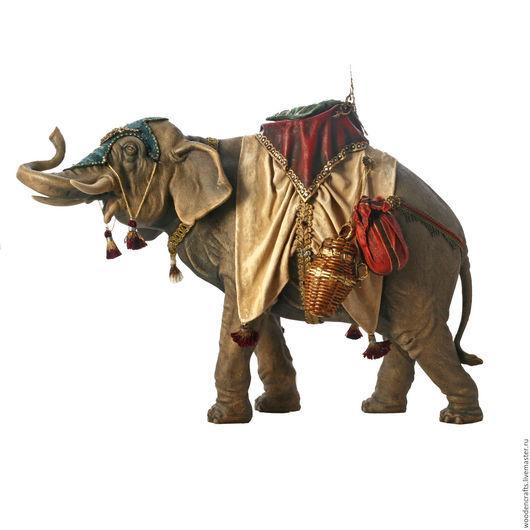 Статуэтки ручной работы. Ярмарка Мастеров - ручная работа. Купить Слон Королевский. Handmade. Комбинированный, подарок со смыслом, дерево