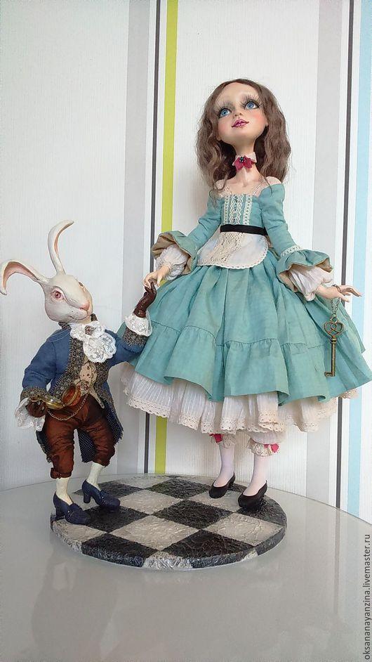 Коллекционные куклы ручной работы. Ярмарка Мастеров - ручная работа. Купить Алиса в Стране Чудес.. Handmade. Морская волна, текстиль