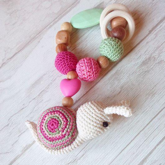 """Развивающие игрушки ручной работы. Ярмарка Мастеров - ручная работа. Купить Игрушка-грызунок """"улитка"""". Handmade. Комбинированный, слингобусы, слингоигрушка"""