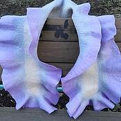 Аксессуары ручной работы. Ярмарка Мастеров - ручная работа шарф валяный Воланистый. Handmade.