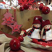 Подарки к праздникам ручной работы. Ярмарка Мастеров - ручная работа Набор елочных игрушек N10. Handmade.