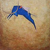 """Картины и панно ручной работы. Ярмарка Мастеров - ручная работа Картина маслом """"Похищение Европы"""". Handmade."""