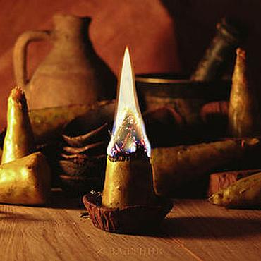 Сувениры и подарки ручной работы. Ярмарка Мастеров - ручная работа Травяные свечи с подсвечниками. Волшебные бесфитильные свечи. Handmade.