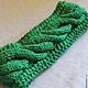 Set knitted Emerald for Irina, scarf - snud, bandage and mittens. Headwear Sets. (Milena-Pobedova) (Milena-Pobedova). My Livemaster. Фото №4