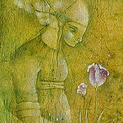 """Цветы Ингрид. Картина фэнтези. Серия """"Зеленое Время"""""""