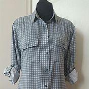 Одежда ручной работы. Ярмарка Мастеров - ручная работа 348: удлиненная рубашка из вискозы, короткое платье рубашка. Handmade.