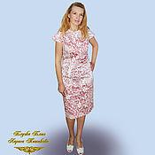 Одежда handmade. Livemaster - original item Sheath dress from crisp cotton Caramel. Handmade.