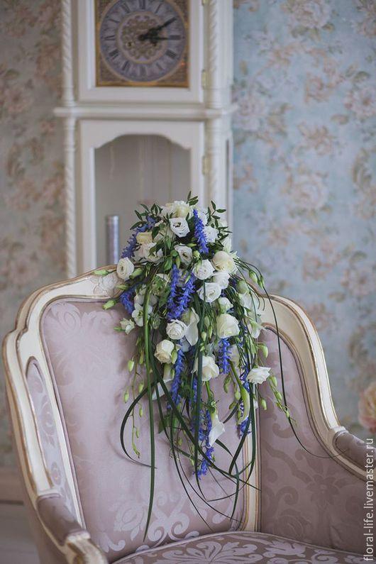 Свадебные цветы ручной работы. Ярмарка Мастеров - ручная работа. Купить Букет каскад. Handmade. Комбинированный, свадьба, эустома