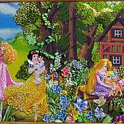 Картины ручной работы. Ярмарка Мастеров - ручная работа Картины: Картина вышивка лентами Лесная сказка. Handmade.