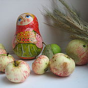"""Русский стиль ручной работы. Ярмарка Мастеров - ручная работа неваляшка деревянная """" Яблочки"""". Handmade."""