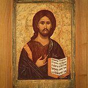 Иконы ручной работы. Ярмарка Мастеров - ручная работа Икона Христос Вседержитель. Handmade.