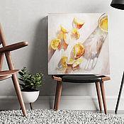 handmade. Livemaster - original item Lemon still life, kitchen painting, fruit.. Handmade.