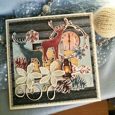 Сувениры и подарки ручной работы. Ярмарка Мастеров - ручная работа Открытка новогодняя Уютная. Handmade.