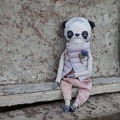 Куклы и игрушки ручной работы. Ярмарка Мастеров - ручная работа Панда Черничные штаны. Handmade.