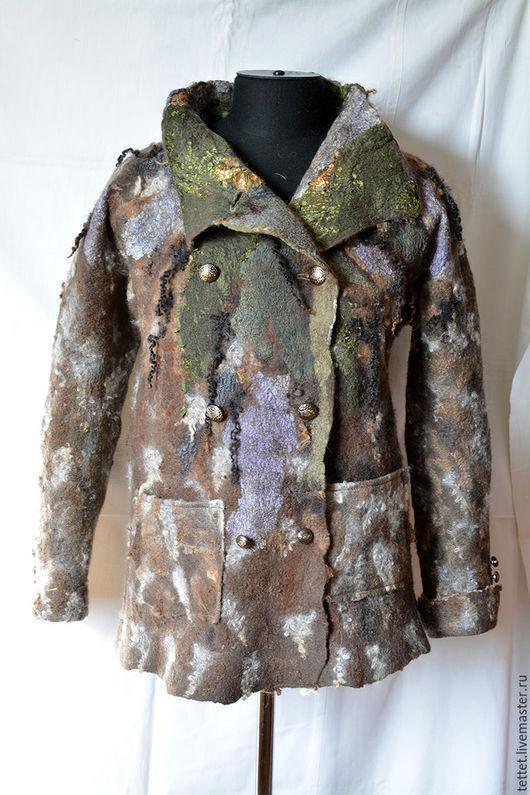 """Верхняя одежда ручной работы. Ярмарка Мастеров - ручная работа. Купить """"Моя прэлесть!!!"""" куртка.. Handmade. Коричневый, пальто из шерсти"""