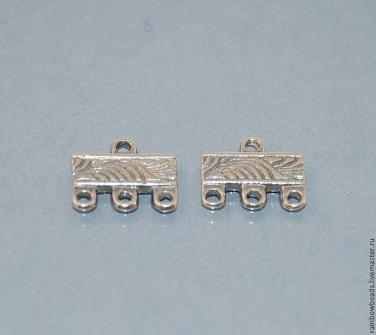 коннектор для украшений; фурнитура серебро; коннектор серебряный; серебро Бали