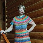 Одежда ручной работы. Ярмарка Мастеров - ручная работа Яркое вязаное платье. Handmade.