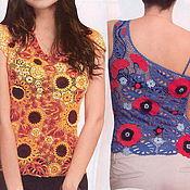 Одежда ручной работы. Ярмарка Мастеров - ручная работа блузка Подсолнухи. Handmade.
