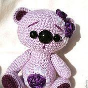 Куклы и игрушки ручной работы. Ярмарка Мастеров - ручная работа Вязаная мишка Сиренька. Handmade.