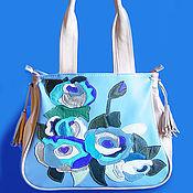 """Сумки и аксессуары ручной работы. Ярмарка Мастеров - ручная работа Кожаная сумка """" Blue roses"""". Handmade."""