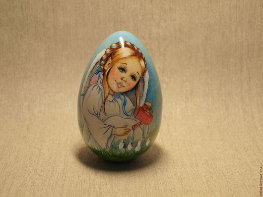 """Матрешки ручной работы. Ярмарка Мастеров - ручная работа. Купить Музыкальная неваляшка-яйцо """"Нежность"""". Handmade. Голубой, пасхальный сувенир"""
