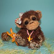 Куклы и игрушки ручной работы. Ярмарка Мастеров - ручная работа Шимпанзе Лима. Handmade.