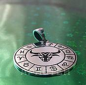 Украшения handmade. Livemaster - original item Taurus pendant. Handmade.