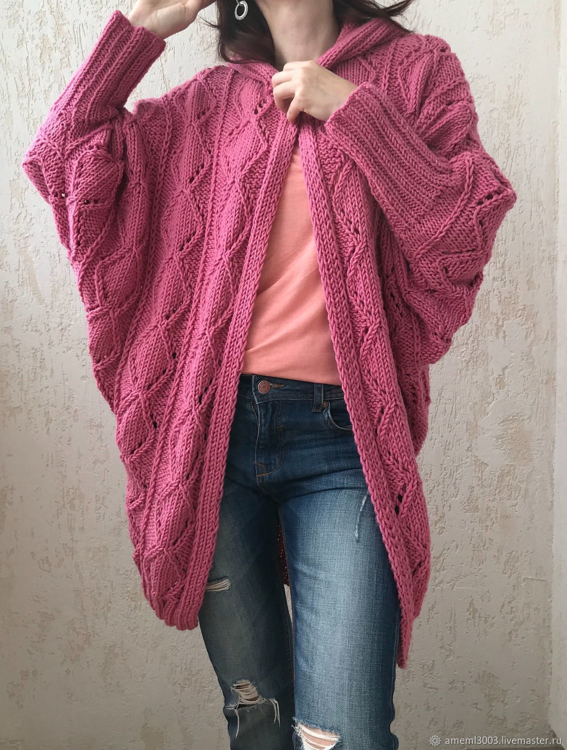 cardigans: Knitted cardigan made of Merino wool, Cardigans, Ivanovo, Фото №1