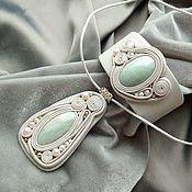 Украшения handmade. Livemaster - original item Jewelry sets: Mint amazonite. Handmade.