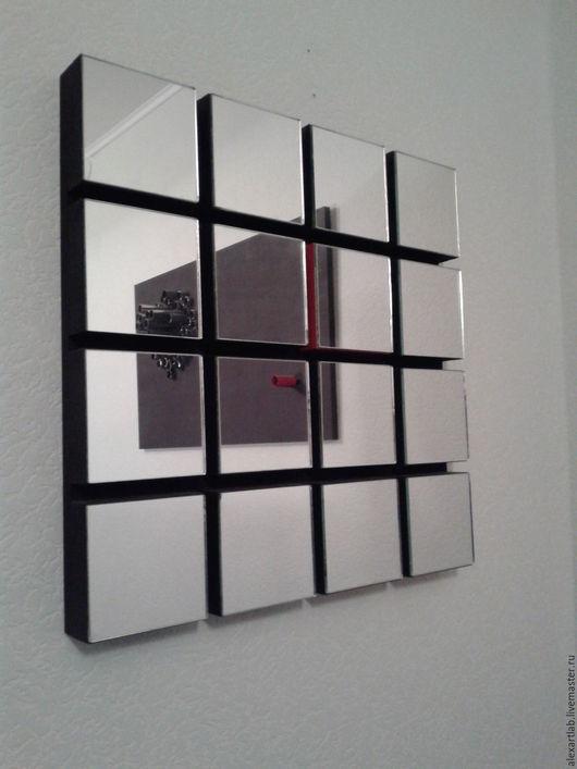 Зеркала ручной работы. Ярмарка Мастеров - ручная работа. Купить Quadrum. Handmade. Черный, дизайн, авторская ручная работа