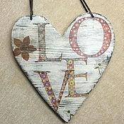 """Для дома и интерьера ручной работы. Ярмарка Мастеров - ручная работа Подвеска-сердце """"Love"""". Handmade."""