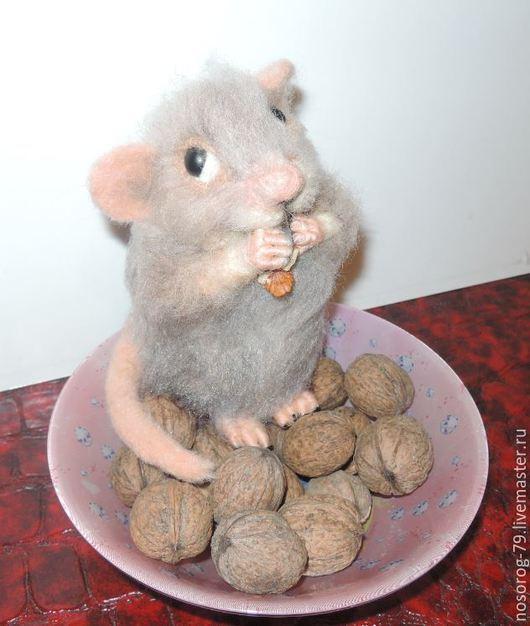 Игрушки животные, ручной работы. Ярмарка Мастеров - ручная работа. Купить мышка Крикс. Handmade. Мышь игрушка, серый