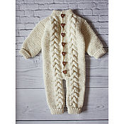 Работы для детей, handmade. Livemaster - original item Romper made from 100% Merino wool. Handmade.