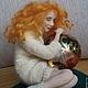 Коллекционные куклы ручной работы. Заказать Тепло. jazzamora. Ярмарка Мастеров. Белый, авторская кукла, living doll, роспись по стеклу