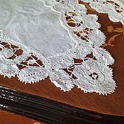Винтажные предметы интерьера ручной работы. Ярмарка Мастеров - ручная работа Две парные винтажные салфетки. Handmade.