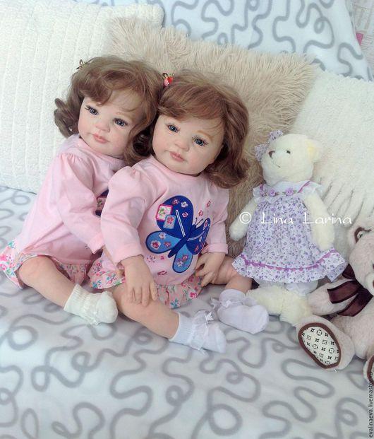 Куклы-младенцы и reborn ручной работы. Ярмарка Мастеров - ручная работа. Купить Ника и Вика.. Handmade. Бирюзовый, купить куклу